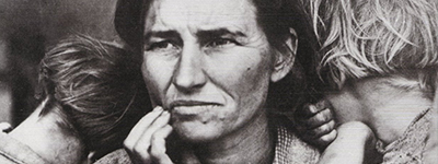 """Mãe Migrante"" de Dorothea Lange"