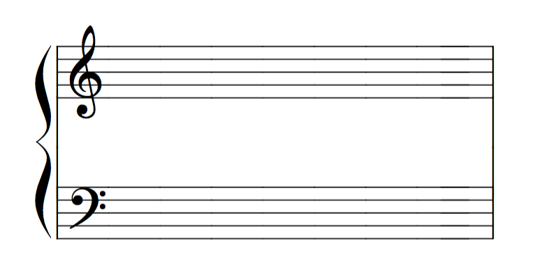 clave de sol e fa - piano