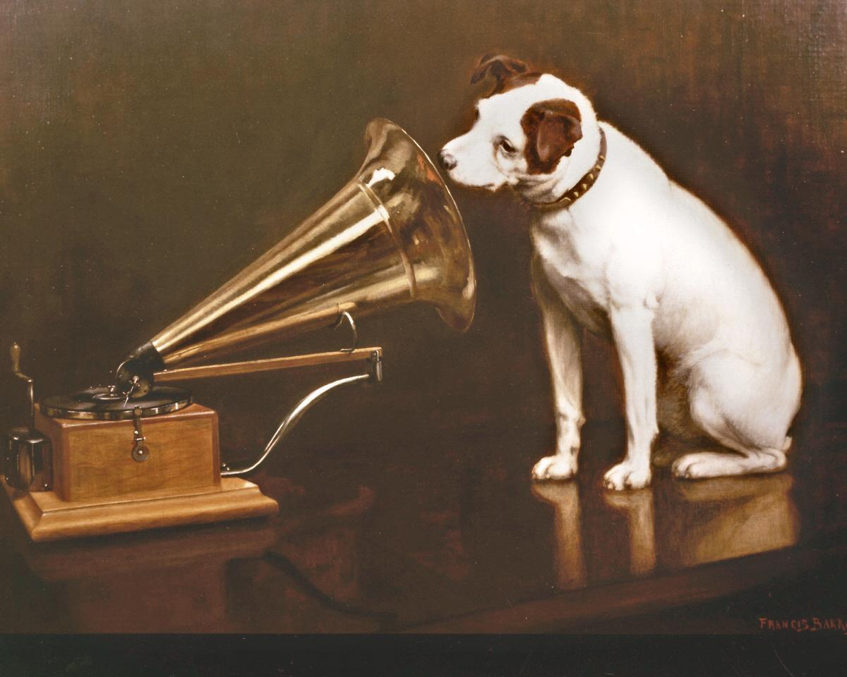 Speurbordje_his_masters_voice