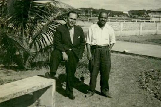 Dodô e Osmar posam para retrato em 1950