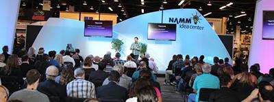 NAMM abre espaço para palestras.