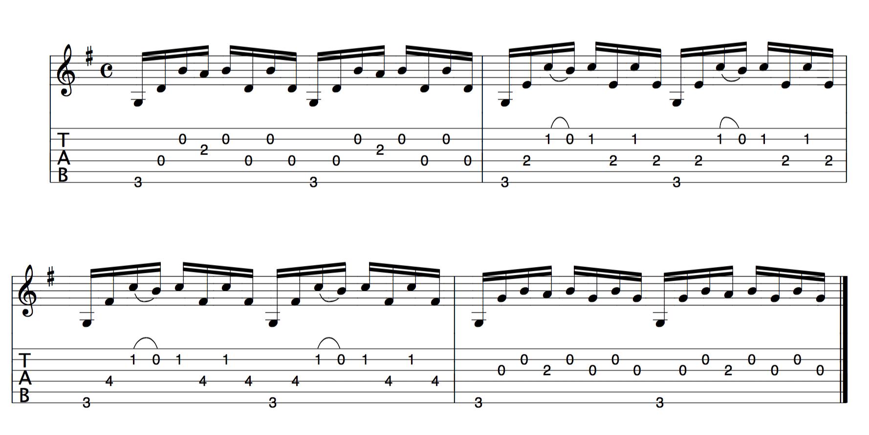 Bach Cello suite 1 Guitar