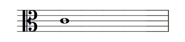 Nota C clave de Do